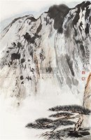 山水 立轴 纸本 - 黑伯龙 - 中国书画 - 2010秋季艺术品拍卖会 -收藏网