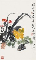 天中即景图 镜片 设色纸本 - 117343 - 中国书画一 - 2010年秋季艺术品拍卖会 -收藏网