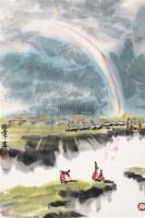 高原雨后 立轴 设色纸本 - 徐希 - 中国书画(一) - 2010年秋季艺术品拍卖会 -收藏网