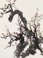 梅花   镜框 设色纸本 - 王子武 - 中国书画 - 2010秋季艺术品拍卖会 -收藏网