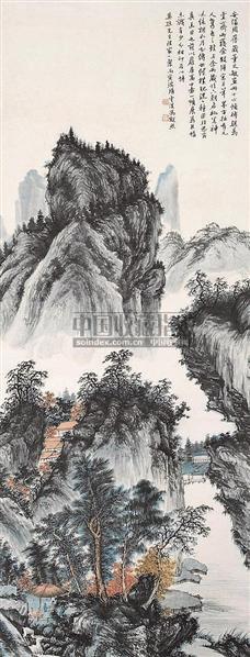 山水 立轴 设色纸本 - 6662 - 中国书画 - 2006秋季书画艺术品拍卖会 -收藏网