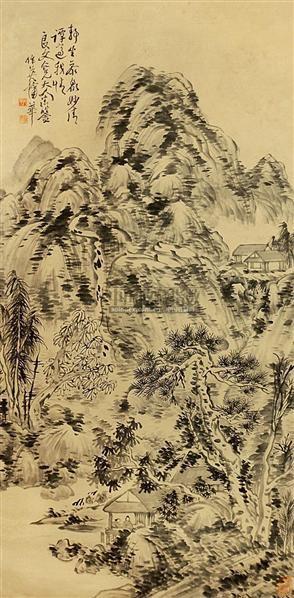 山水 立轴 纸本 - 8107 - 中国书画 - 2010秋季艺术品拍卖会 -收藏网