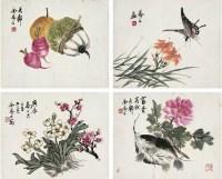 金梦石(1869~1944后) 花卉小品 - 金梦石 - 中国书画近现代名家作品专场 - 2008年秋季艺术品拍卖会 -收藏网