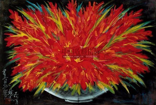 静物 镜心 设色纸本 - 116036 - 中国书画(二) - 2010年秋季艺术品拍卖会 -收藏网