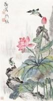 荷花翠鸟 立轴 纸本设色 - 陈师曾 - 中国近现代书画  - 2010秋季艺术品拍卖会 -收藏网