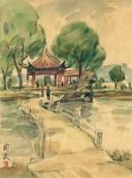 知春亭 - 关良 - 油画 - 2010年秋季拍卖会 -收藏网