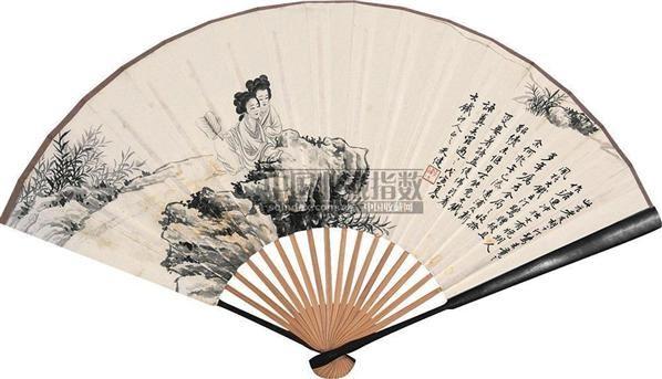 人物 成扇 纸本 - 116682 - 中国书画(上) - 2010瑞秋艺术品拍卖会 -收藏网