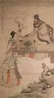 人物 镜心 设色纸本 - 任薰 - 中国书画 - 2010年秋季艺术品拍卖会 -收藏网