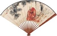 佛像 成扇 设色纸本 - 140112 - 名家书画·油画专场 - 2006夏季书画艺术品拍卖会 -收藏网