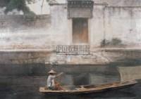 捕虾人 油彩 画布 - 陈逸飞 - 油画专场  - 2010秋季艺术品拍卖会 -收藏网