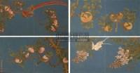 花鸟 镜心 (十开) 设色篮地绢本 - 蒋廷锡 - 中国书画 - 2010年秋季艺术品拍卖会 -收藏网