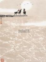晨晖 镜心 纸本设色 - 白庚延 - 中国当代书画 - 2010秋季艺术品拍卖会 -收藏网