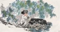 女孩 镜心 设色纸本 - 王有政 - 中国书画 - 第54期书画精品拍卖会 -中国收藏网