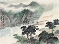 溪山放筏 立轴 设色纸本 -  - 中国书画二·名家小品及书法专场 - 2010秋季艺术品拍卖会 -收藏网