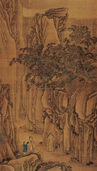 陳    枚(清 •雍正)   松壑行吟圖 -  - 中国书画古代作品 - 2006春季大型艺术品拍卖会 -收藏网
