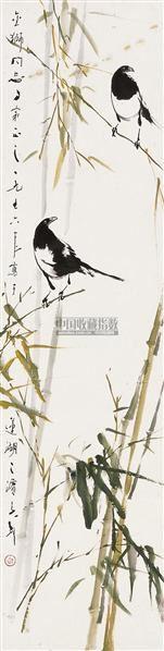 绿竹双喜 镜片 设色纸本 - 118173 - 中国书画 - 2010秋季艺术品拍卖会 -收藏网