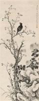菊花八哥 立轴 水墨纸本 - 张敔 - 中国古代书画  - 2010年秋季艺术品拍卖会 -收藏网