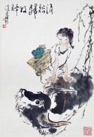人物 纸本 立轴 - 周沧米 - 中国书画(二)无底价专场 - 天目迎春 -收藏网