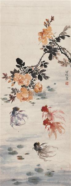 金鱼 镜片 设色纸本 -  - 中国书画 - 2010秋季艺术品拍卖会 -收藏网