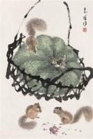 松鼠 镜心 设色纸本 - 方楚雄 - 书画专场 - 2006年第2期精品拍卖会 -中国收藏网