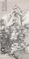 深山幽居图 镜心 水墨纸本 - 吴徵 - 中国书画(一) - 2010年秋季艺术品拍卖会 -收藏网