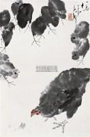 觅食图 立轴 设色纸本 - 118173 - 中国书画 - 2010秋季艺术品拍卖会 -收藏网