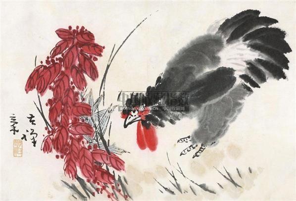 大吉老来红 镜心 纸本 - 139807 - 中国书画 - 2010年秋季书画专场拍卖会 -收藏网