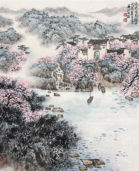 山水 立轴 纸本 - 5002 - 中国书画(下) - 2010瑞秋艺术品拍卖会 -收藏网
