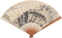 山水 书法 成扇 水墨纸本 -  - 扇画·古代书画专场 - 2006夏季书画艺术品拍卖会 -中国收藏网