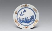 清雍正 青花加金芦雁大盘 -  - 瓷器工艺品(一) - 2006年第3期嘉德四季拍卖会 -收藏网