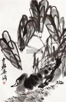 荷塘鸭戏 立轴 水墨纸本 - 梁崎 - 中国书画专场 - 2010年秋季艺术品拍卖会 -中国收藏网