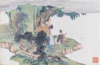 人物册页 纸本 卡纸册页 - 任熊 - 中国书画(二)无底价专场 - 天目迎春 -收藏网