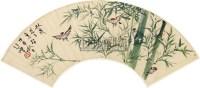 竹雀图 扇面 纸本 - 徐悲鸿 - 扇面小品 - 2010秋季艺术品拍卖会 -中国收藏网