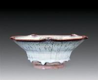 钧窑月白釉花口盆 -  - 堂置案供 - 2010瑞秋艺术品拍卖会 -中国收藏网