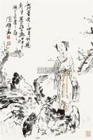 饲鸡图 镜心 纸本设色 - 114998 - 中国当代书画 - 2010秋季艺术品拍卖会 -收藏网