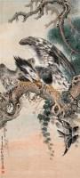 熊松泉 辛巳(1941年)作 松鹰双雀图 轴 设色纸本 - 熊松泉 - 中国近现代书画 - 2006艺术品拍卖会 -收藏网
