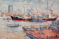 江南造船厂 布面  油画 - 林达川 - 华人西画 - 2006年度大型经典艺术品拍卖会 -收藏网