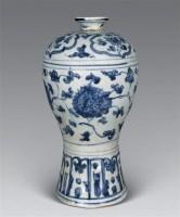 明中期 青花花卉梅瓶 -  - 瓷器工艺品(一) - 2006年第3期嘉德四季拍卖会 -收藏网
