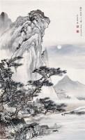 月圆泛舟 立轴 设色绢本 - 吴镜汀 - 中国书画(一) - 2010年秋季艺术品拍卖会 -收藏网