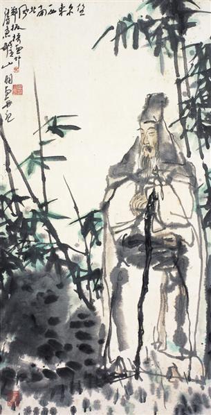 吴山明      子猷看竹 - 114688 - 中国书画  - 2010浦江中国书画节浙江中财书画拍卖会 -收藏网