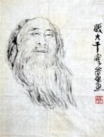 梁崎 张大千肖像 软片 - 梁崎 - 中国书画、油画 - 2006艺术精品拍卖会 -中国收藏网