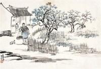 农村写生 镜片 设色纸本 - 赵望云 - 中国书画 - 2010秋季艺术品拍卖会 -收藏网