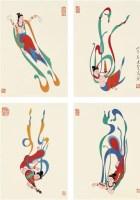 飞天 镜心 设色纸本 - 潘絜兹 - 中国书画 - 2010年秋季拍卖会 -收藏网