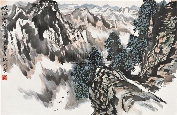 崘雪霁 镜片 设色纸本 - 4422 - 中国书画 - 2010秋季艺术品拍卖会 -收藏网