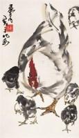 黄  胄(1925~1997)  母子图 -  - 中国书画近现代名家作品 - 2005年首届大型拍卖会 -收藏网