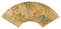 刘德六(1805~1875)  春水凫雏 -  - 中国书画金笺扇面 - 2005年首届大型拍卖会 -收藏网