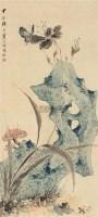 蝶恋花 立轴 设色纸本 - 江寒汀 - 中国近现代书画(二) - 2010秋季艺术品拍卖会 -中国收藏网