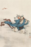 东方朔 镜心 设色绢本 - 刘奎龄 - 中国书画(二) - 2010年秋季艺术品拍卖会 -中国收藏网