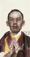 班禅肖像 镜心 设色纸本 -  - 中国书画 - 2010年秋季拍卖会 -收藏网