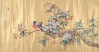 花鸟 绢本 横批 - 任重 - 中国书画(二)无底价专场 - 天目迎春 -收藏网
